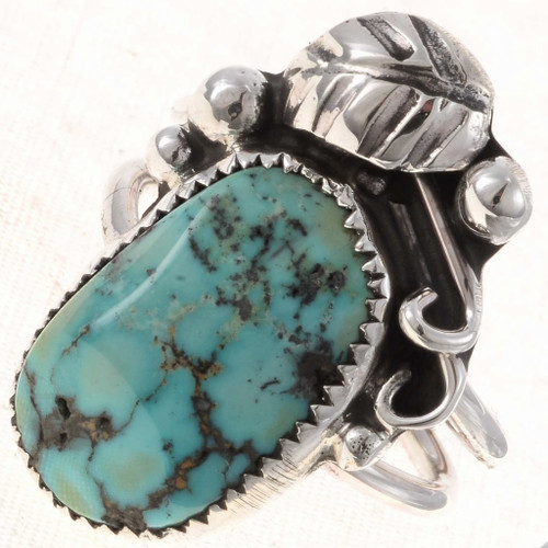 Silver Turquoise Ladies Ring 24903