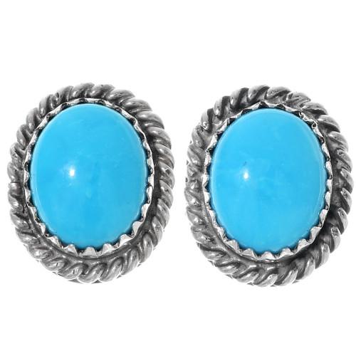 Navajo Turquoise Stud Earrings 28436