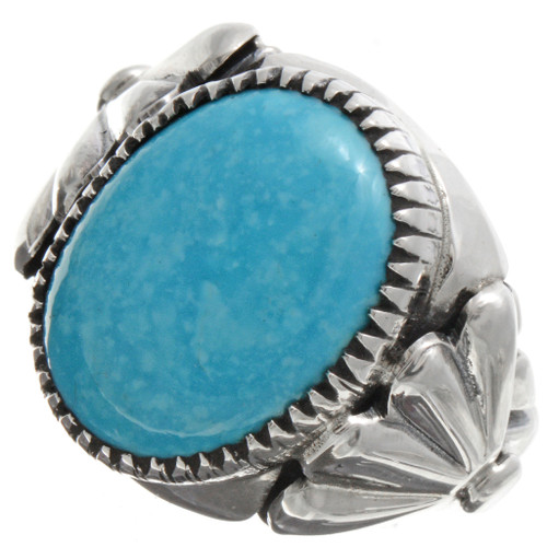 Blue Turquoise Mens Ring 21628