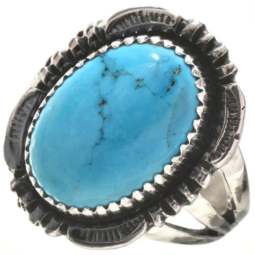 Turquoise Silver Ring 28734
