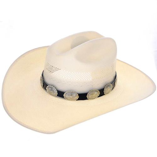 Western Silver Leather Hatband 23455