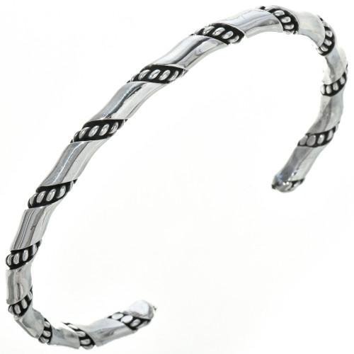 Navajo Sterling Twist Wire Bracelet 29953