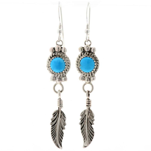 Turquoise French Hook Earrings 27537