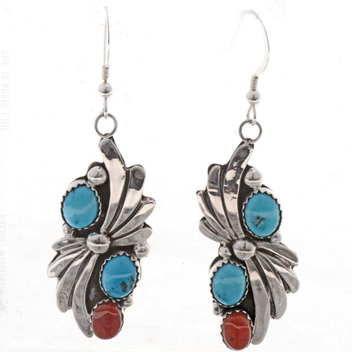 Turquoise Coral Earrings 26465
