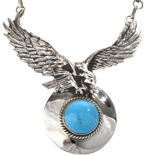 Navajo Silver Eagle Y Necklace 28594