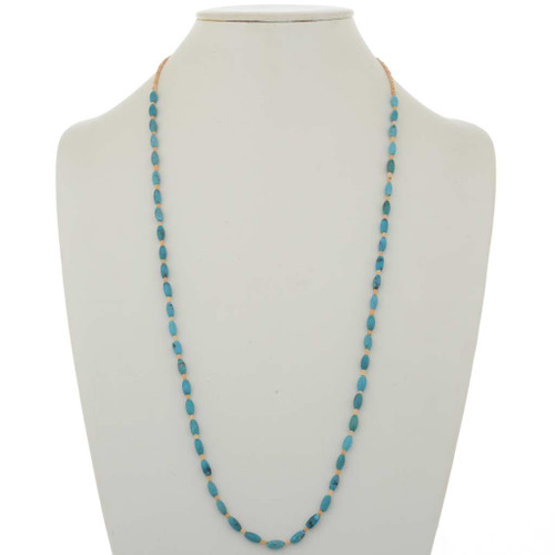 Turquoise Melon Shell Necklace 26822
