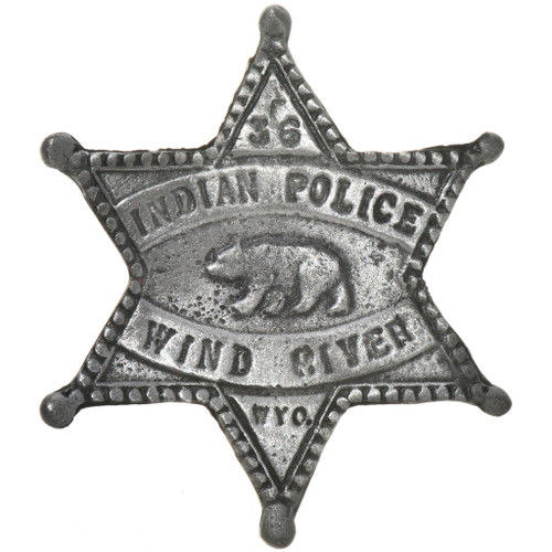 Indian Police Wyoming Star Badge 29187