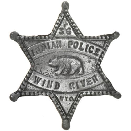 Indian Police Wyoming Star Badge 29187