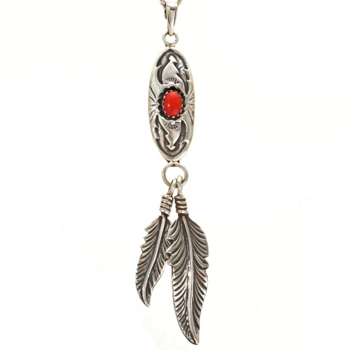 Native American Shadowboxed Feather Pendant 26947