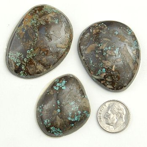 PEEK A BOO Turquoise Cabochons Various Shapes 240 Carats 1