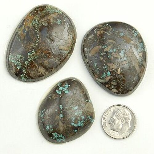 240 Carats PEEK A BOO Turquoise Cabochons Various Shapes