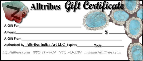 Gift Certificate at Alltribes Online Store