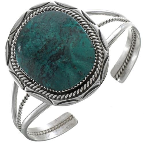 Spiderweb Turquoise Silver Cuff 28420
