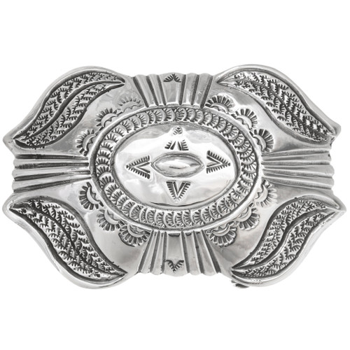 Old Pawn Style Silver Belt Buckle 29652