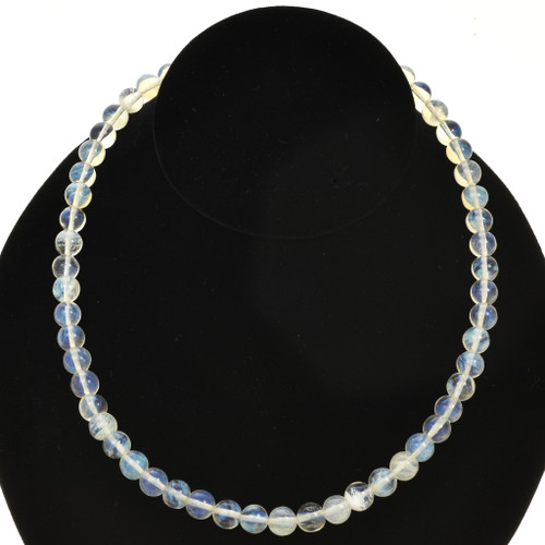 8mm Quartz Crystal Glass Beads 16 inch Strand