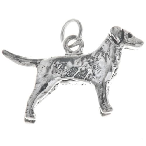 Sterling Silver Dog Golden Retriever Charm