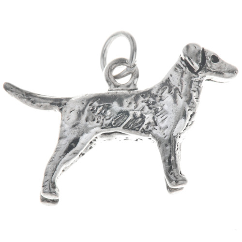Sterling Silver Dog Charm 35419
