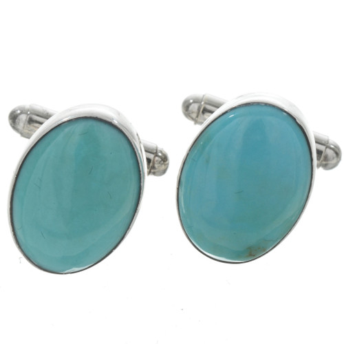 Turquoise Oval Cuff Links 23907