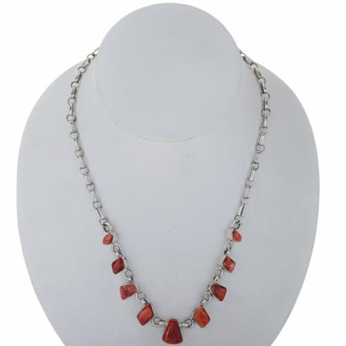 Spiny Oyster Silver Link Necklace 27703