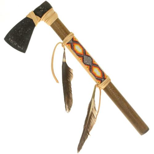 Indian Buckskin Beaded Tomahawk 27644