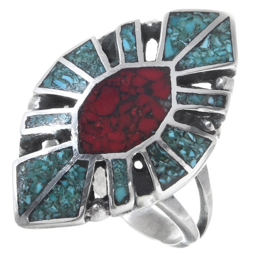 Turquoise Coral Ring 27075