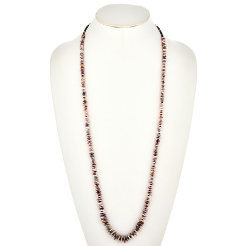 Navajo Spiny Oyster Heishi Necklace 29454
