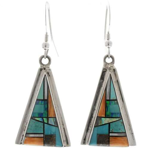 Inlaid Turquoise Opal Earrings 27059