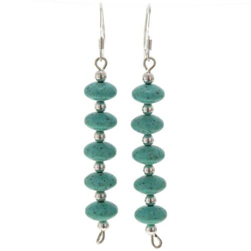 Turquoise Silver Earrings 25816