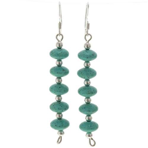 Turquoise Silver Earrings 25816