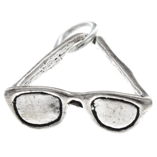 Sterling Silver Sunglasses Charm Bracelet Pendant Necklace