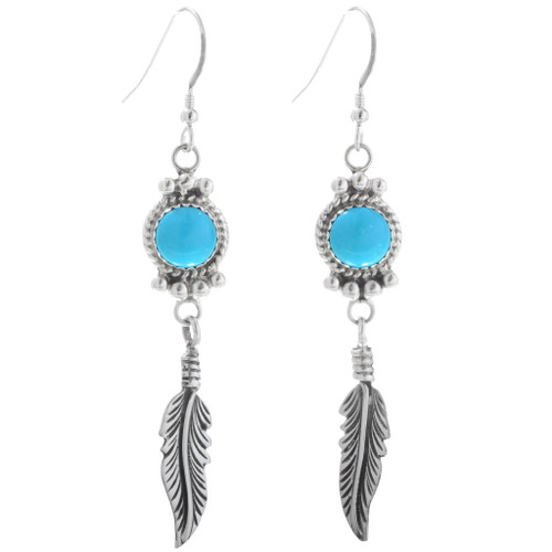 Turquoise Feather Earrings 27585