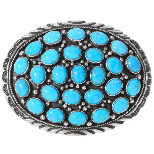 Sleeping Beauty Turquoise Belt Buckle 24413