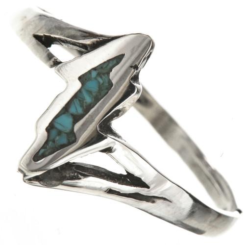 Turquoise Lightning Bolt Ring 28819
