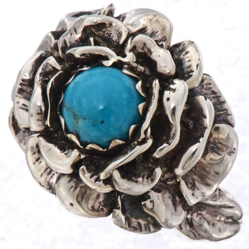 Ladies Turquoise Silver Ring 25542