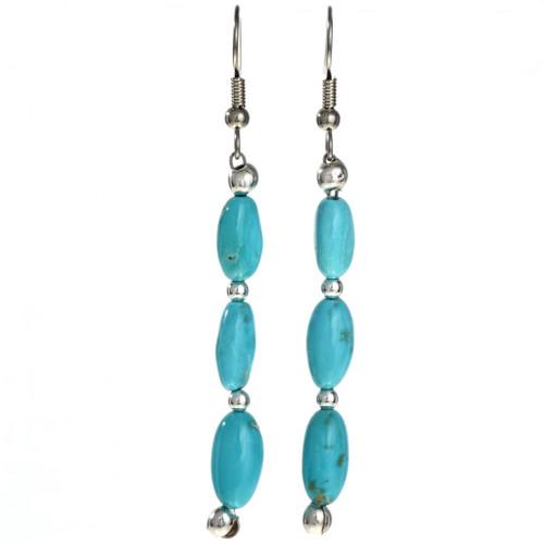 Natural Kingman Turquoise Silver Earrings 29031