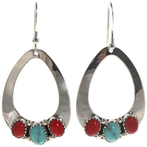 Turquoise Coral Dangle Earrings 28827