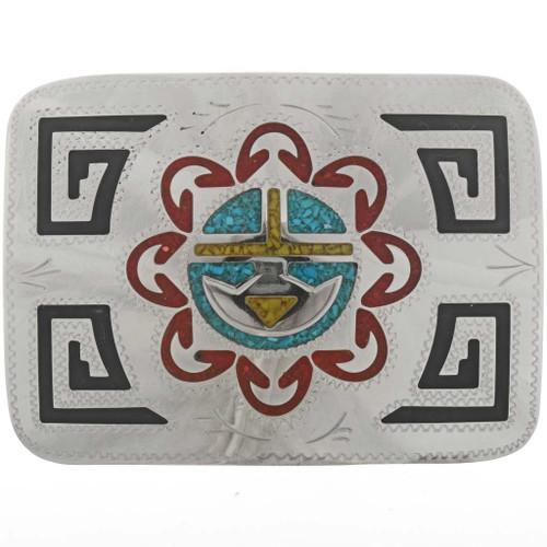 Hopi Sunface Belt Buckle 27350