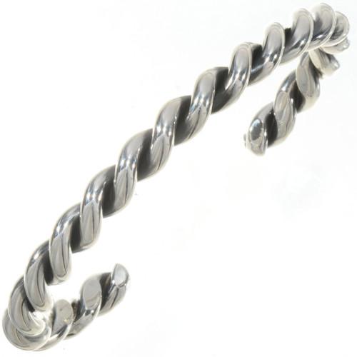 Navajo Sterling Twist Wire Cuff Bracelet 27555