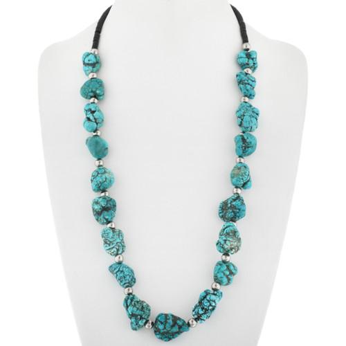 Santo Domingo Style Turquoise Nugget Necklace 29854