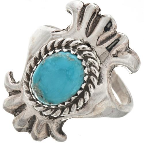 Ladies Turquoise Silver Navajo Ring 29874