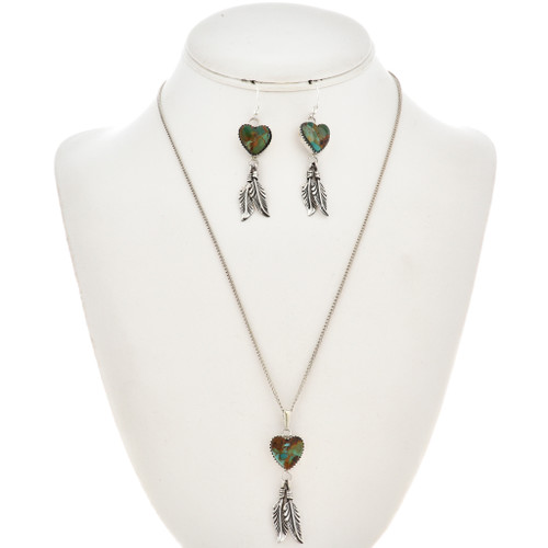 Turquoise Pendant Set With Earrings 29918