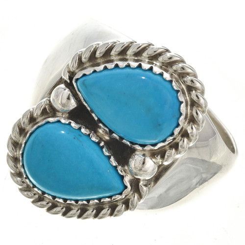 Two Stone Silver Ring 29951