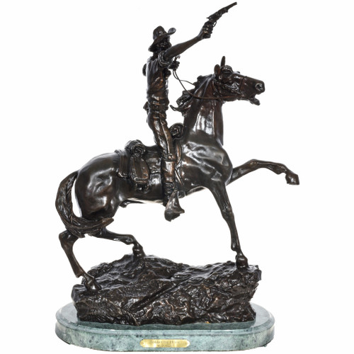 Soldier on Horse Bronze Sculpture 29966