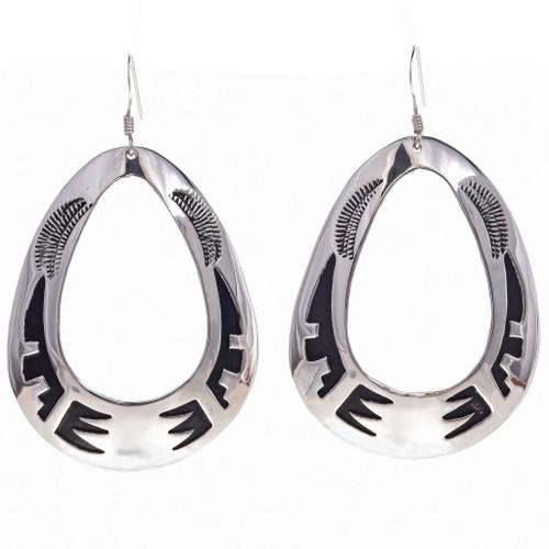 Handmade Navajo Silver Earrings 30007