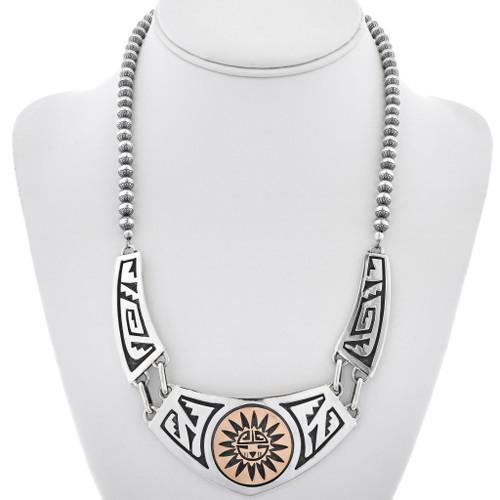Gold Silver Navajo Kachina Necklace 30038