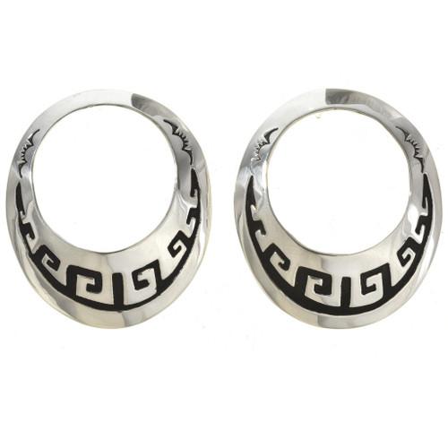 Overlaid Silver Earrings 30078