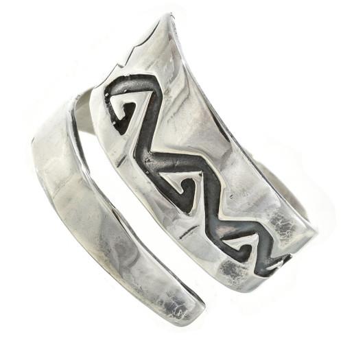 Overlaid Silver Navajo Ring 30105