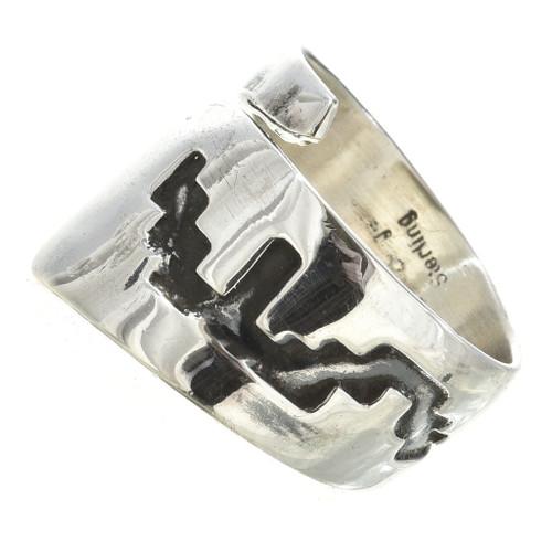 Navajo Ladies Silver Bypass Ring 30111