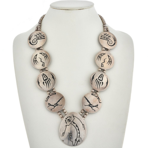 Old Pawn Overlaid Silver Necklace 30112