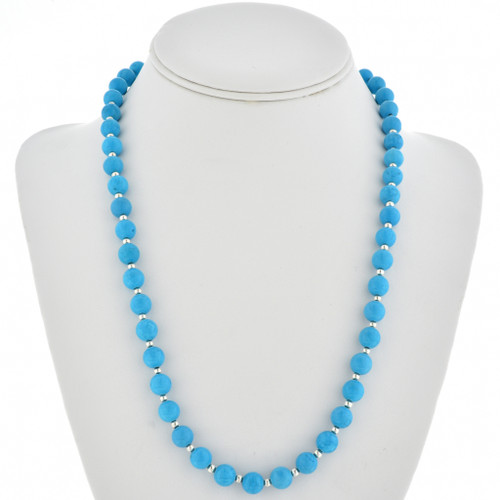 Blue Turquoise Bead Navajo Necklace 30114